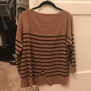Camel and black loft sweater